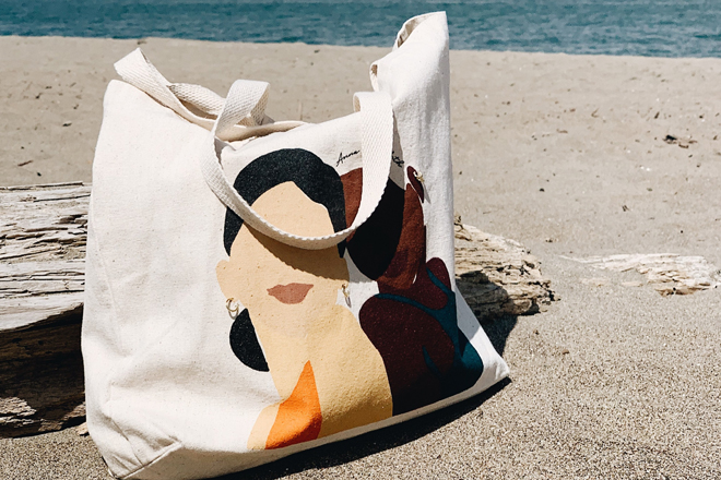 Огромная пляжная сумка