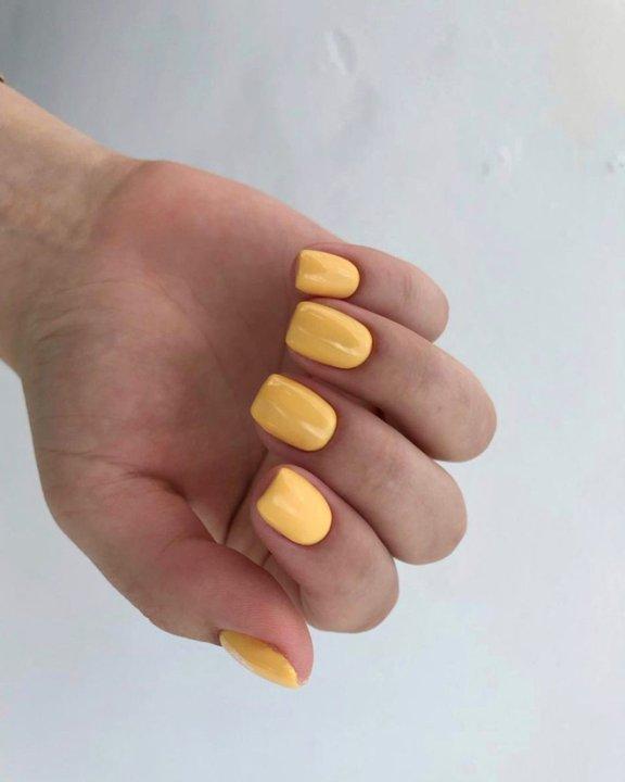 Желтый nail-art